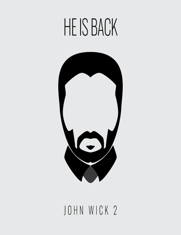 John Wick Minimal Poster Brands Of The World Download Vector Logos And Logotypes