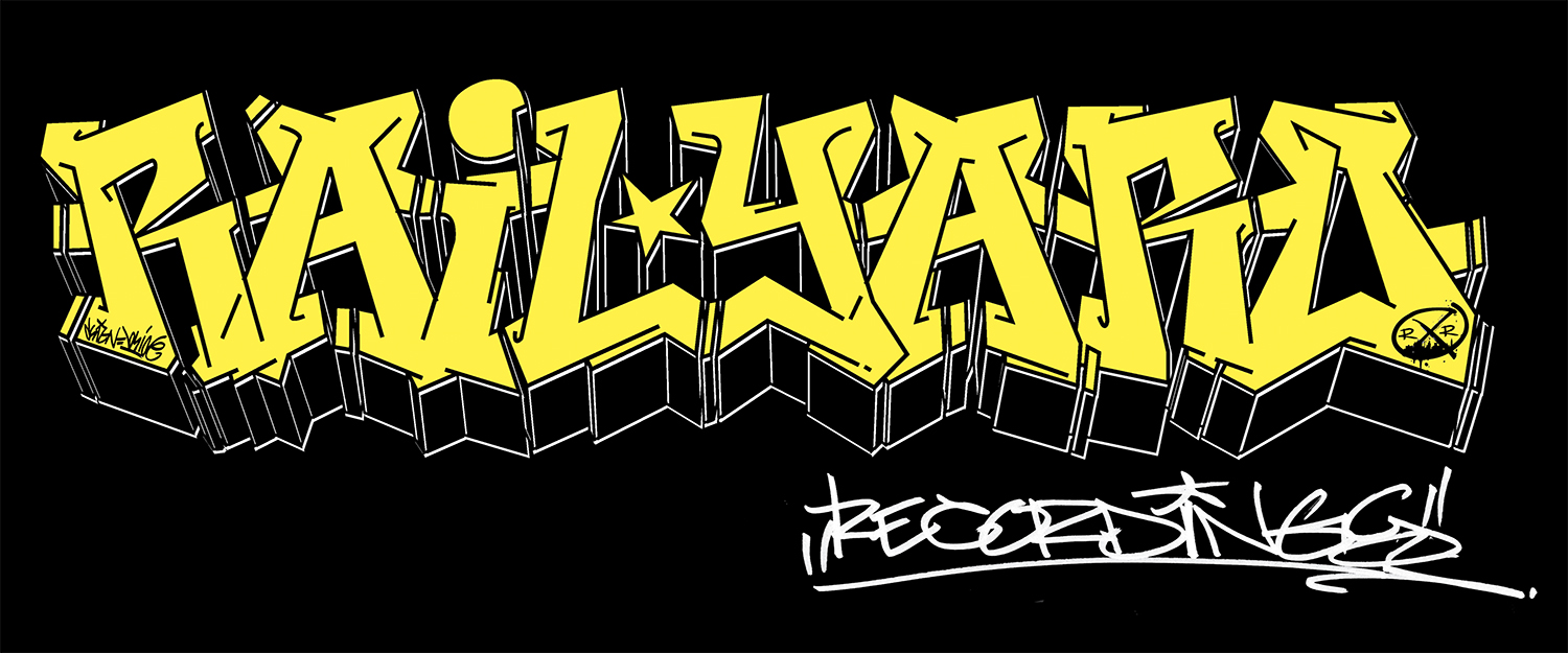 Create an authentic wildstyle of the railyard part of railyard recordings then digitize and prep for use for screen printing