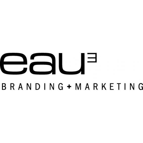 Logo of eau³   Branding + Marketing