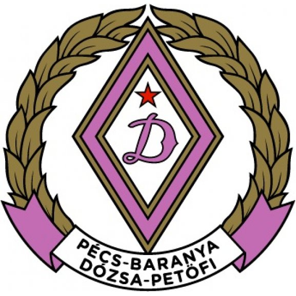 Logo of Pécs-Baranya Dozsa (1950's logo)