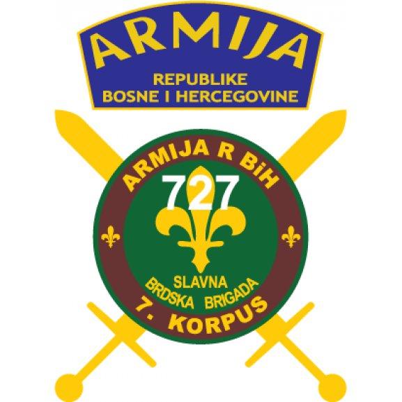 Logo of 727. slavna brdska brigada armija BiH
