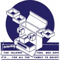 Logo of Stiff Records - Tommy the Talking Toolbox