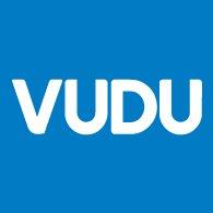 Logo of Vudu - White on Blue