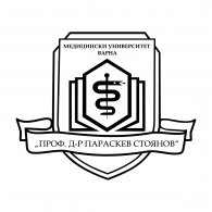 """Logo of The Medical University of Varna """"Prof. Dr. Paraskev Stoyanov"""""""