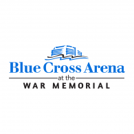 Logo of Blue Cross Arena at the War Memorial