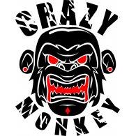 Logo of crazy monkey vector