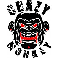 Logo of crazy monkey vector