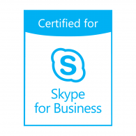 Logo of Certified for Skype for Business