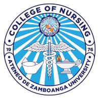 Logo of Ateneo De Zamboanga University College of Nursing