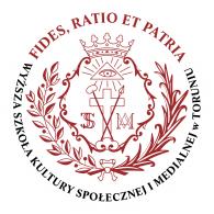 Logo of Wyższa Szkoła Kultury Społecznej i Medialnej w Toruniu - WSKSiM