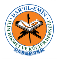 Logo of Darul-Emin Llim Hikmet ve Kültür Derneği Daremder