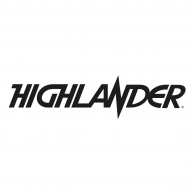 Logo of HIGHLANDER - Title movie logo (BLACK)