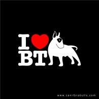 Logo of I love bull terrier
