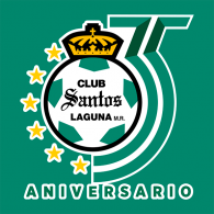 Logo of Santos Laguna 35 aniversario