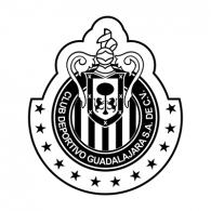 Logo of Chivas Rayadas (blanco y negro)