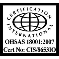 Logo of OHSAS 1800-2007 Certification