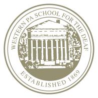 Logo of Western Pennsylvania School for the Deaf