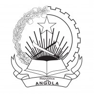 Logo of Angola Coat of Arms BW