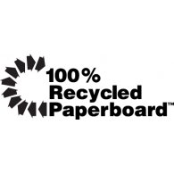 Logo of 100% Recycled Paperboard