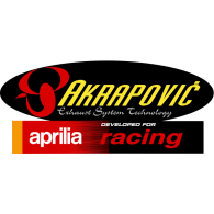 Logo of Akrapovic for Aprilia Racing