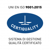 Logo of Certiquality ISO 9001:2015