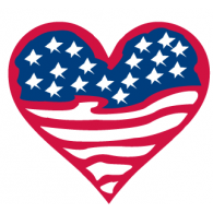Logo of American Flag Heart