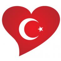 Logo of Türk bayrağı kalpte