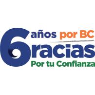 Logo of 6 años por BC Gracias por tu confianza