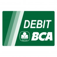 Logo of Debit BCA green