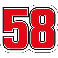Logo of Marco Simoncelli 58