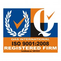 Logo of QAS International Certification Logo ISO 9001