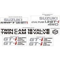 Logo of SUZUKI SWIFT GTI & CULTUS GTI 4WD KIT DECAL
