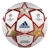 Logo of BALÓN ADIDAS FINAL CHAMPIONS LEAGUE MADRID 2.010