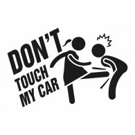 Logo of Don't touch my car Sticker