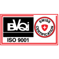 Logo of BVQI ISO 9001 Swiss Certification