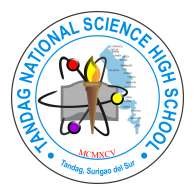 Logo of Tandag National Science High School